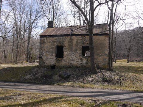Old building beside Columbia Trail, Hunterdon or Morris County, NJ