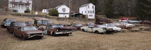 Auto graveyard, Columbia Trail, Morris County, NJ