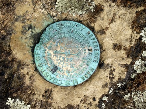 U.S. Coast & Geodetic Survey reference mark, Bald Hill, Fishkill, NY