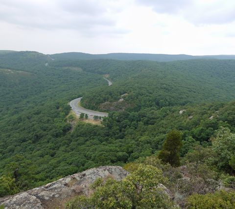 US 9W, as seen from Butter Hill, Storm Mountain State Park, NY