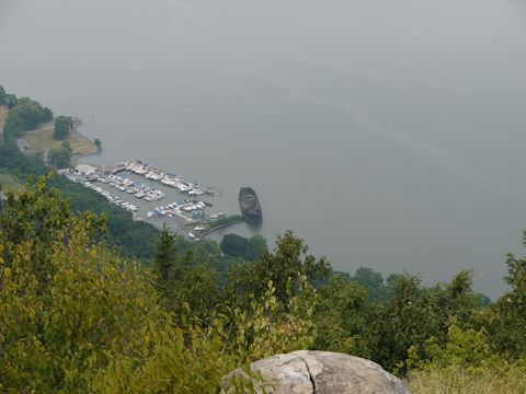Cornwall Yacht Club, from Storm King Mountain, NY